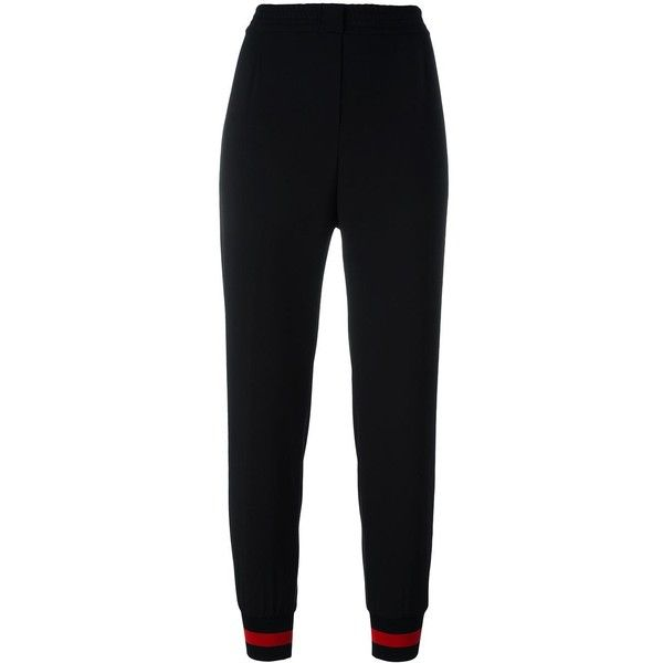 Philipp Plein Jogging Trousers (2750625 PYG) ❤ liked on Polyvore featuring activewear, activewear pants, jogger, sweats, black, track pants, philipp plein and logo sportswear