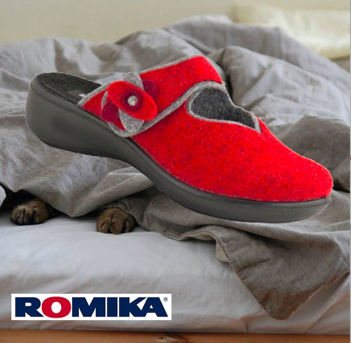 Romika Ibiza Home Slippers #Slippers #Comfort #Relax #RedisBest #Red #Fashion