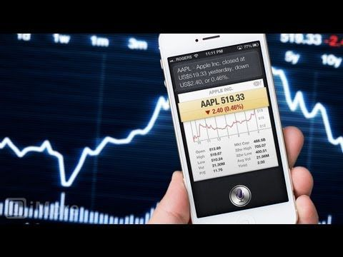 How to check stocks and exchanges with Siri