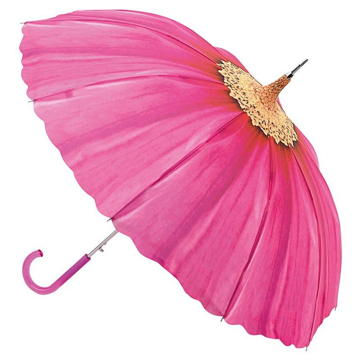 One of a woman's greatest pleasures is a pretty umbrella to brighten those dark, damp rainy days