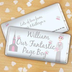 Personalised Fantastic Page Boy Chocolate Bar