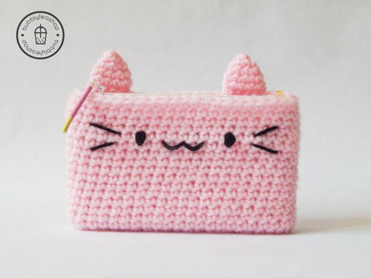3DS Cozy - 3DS Case - Kitty 3DS - Crochet Cozy - Crochet 3DS Case - Kitty Case - Cat Case - Amigurumi Cat Cozy - Kawaii 3DS Case by BubblyTeaShop on Etsy https://www.etsy.com/listing/235111278/3ds-cozy-3ds-case-kitty-3ds-crochet-cozy