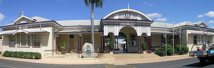 Emerald Railway Station, Emerald, Queensland.... this was in the town down the road from us.