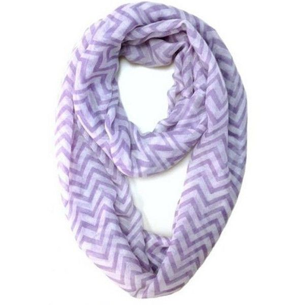 Lavender Chevron Infinity Scarf Chevron Scarves Womens Lavender... ($4.99) ❤ liked on Polyvore