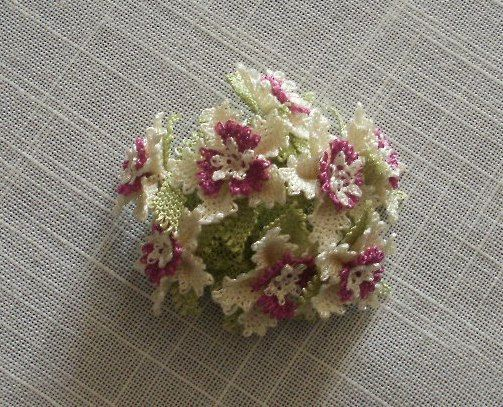 Oya Brooch Floral by ColorsofRengin on Etsy, $25.00