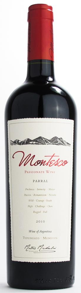 Montesco Passionate Wines 'Parral' Red Blend 2010 (94pts)