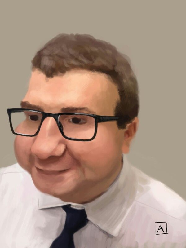 Caricature of a colleague
