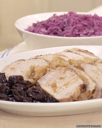 Roast Loin of Pork with Mrs. Kostyra - Martha Stewart Recipes