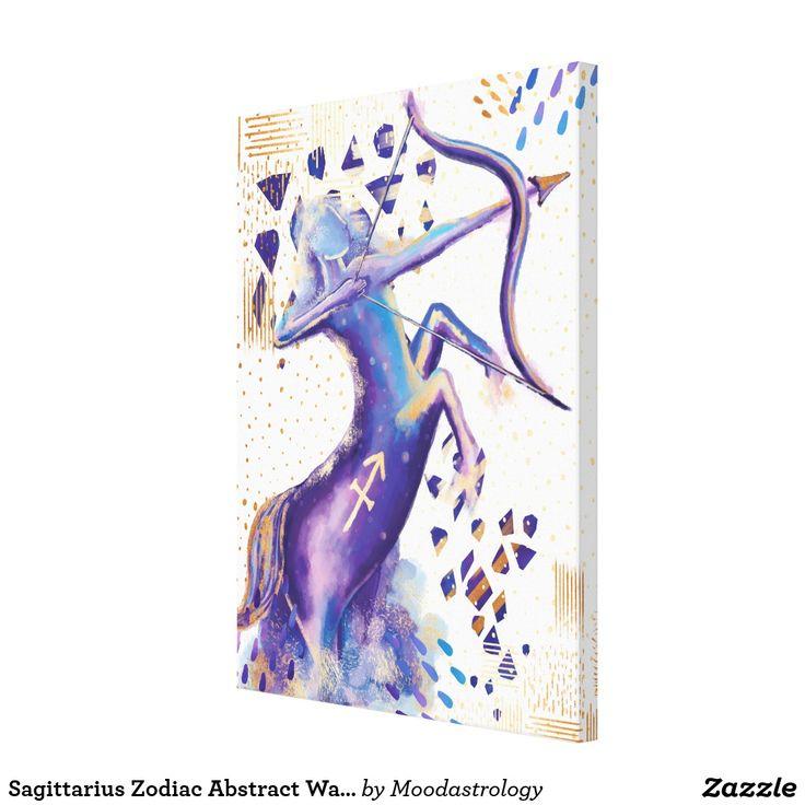 Sagittarius Zodiac Abstract Watercolour Wall Art