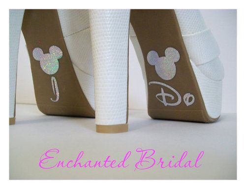 """Disney-Inspired """"I Do"""" Sparkly Wedding Shoe Decals / Stickers ($6.99) - by EnchantedBride 