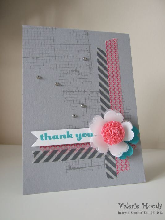 Card Making Ideas With Ribbon Part - 46: Stampin Up! Off The Grid Ruffled Ribbon Flower - Stamping With Val. X