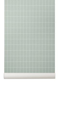 Ferm Living Wallpaper, Grid. Cool Danish Wallpaper Design