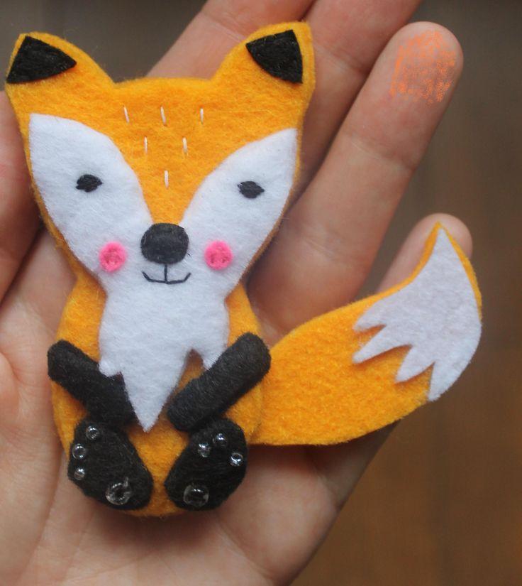 felt fox, filc lis, wykonanie Kaliniaki, https://www.facebook.com/kaliniaki/