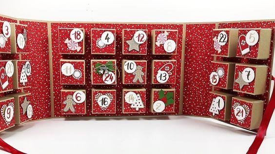 DIY-Adventskalender in Buchform, mal etwas Anderes verschenken oder selber nutzen, Videoanleitung auf meinem Blog, mit crehand & Stampin' Up!