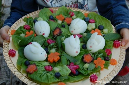 Eats Amazing - a lovely rabbity salad - perfect for Easter