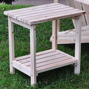 Clayson Cedar Side Table