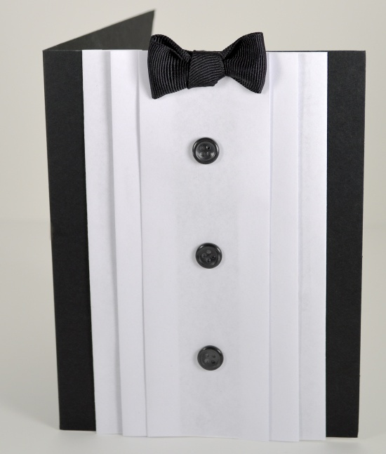 DIY Tuxedo Card!