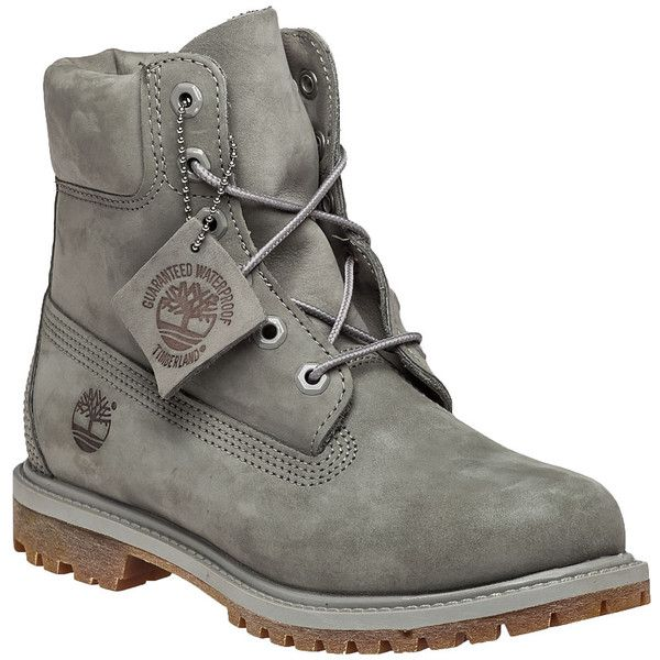 TIMBERLAND Premium 6 Inch Mono Boot Grey Nubuck (1.425 NOK) ❤ liked on Polyvore featuring shoes, boots, grey, timberland shoes, timberland boots and timberland footwear