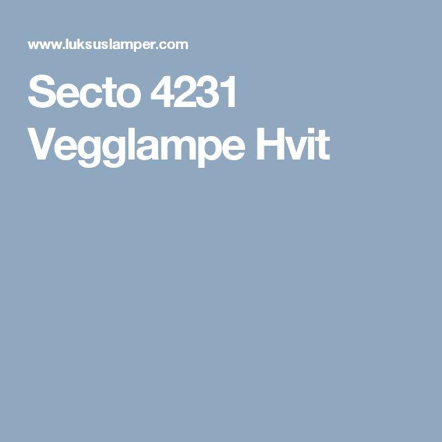 Secto 4231 Vegglampe Hvit