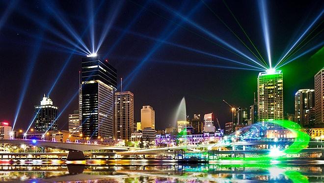 Brisbane, City of Lights, 2012 Brisbane Festival.