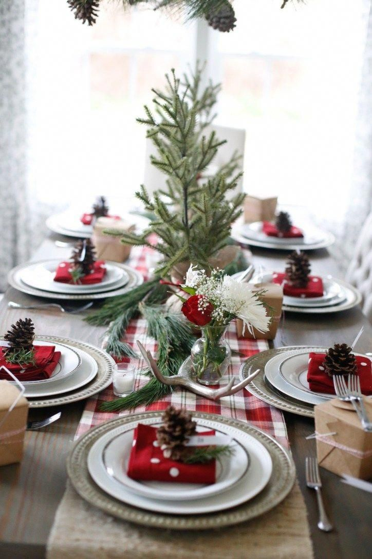 Homemade Christmas Decoration Ideas Pinterest Christmas Table Settings Rustic Christmas Brunch Decor