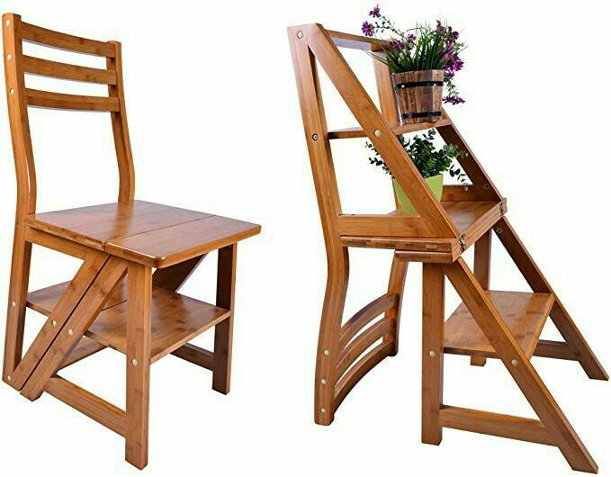 Pin By Fatima Ahallal On Moveis Reciclado Chair Ladder Chair Wood Chair