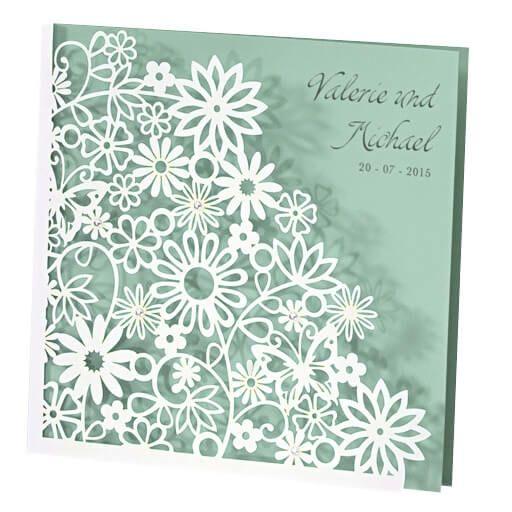 Einladung Hochzeit Dalia mint
