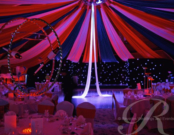 Circus themed event decor for flowserve corporation big top circus theme party pinterest - Decoration theme cirque ...