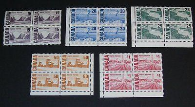 Stamp Pickers Canada 1967-73 Centennial MNH Lot Scott #463-465B MNH HB