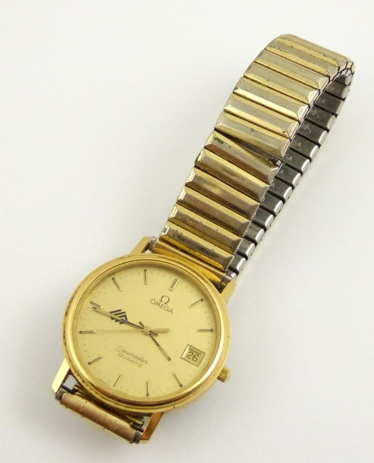 Vintage Gents BHP Mining Quartz Omega Seamaster Wrist Watch - The Collectors Bag