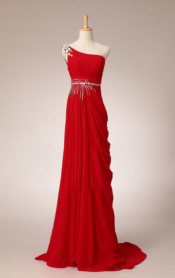 Romantic Red Evening Gown By Susiewear