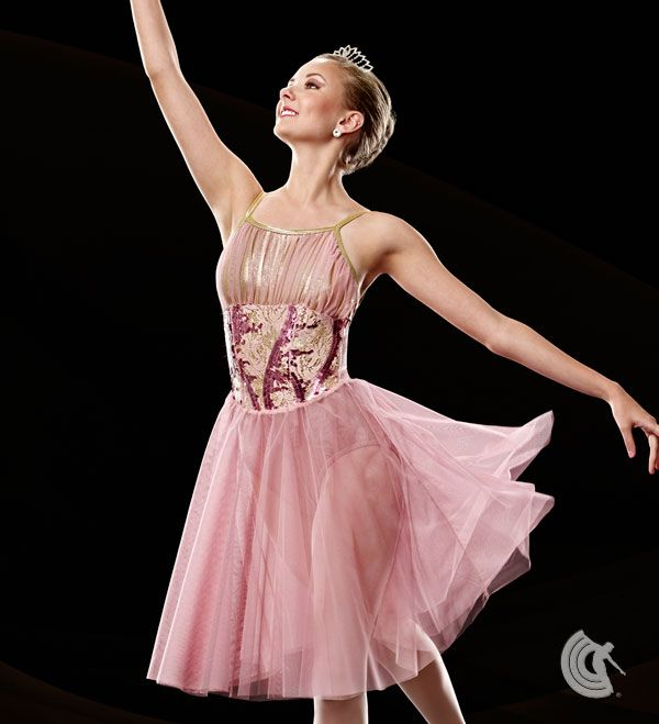 Exceptional Curtain Call Costumes®   Divine Dusty Rose Nylon/spandex And Mystique  Nylon/spandex
