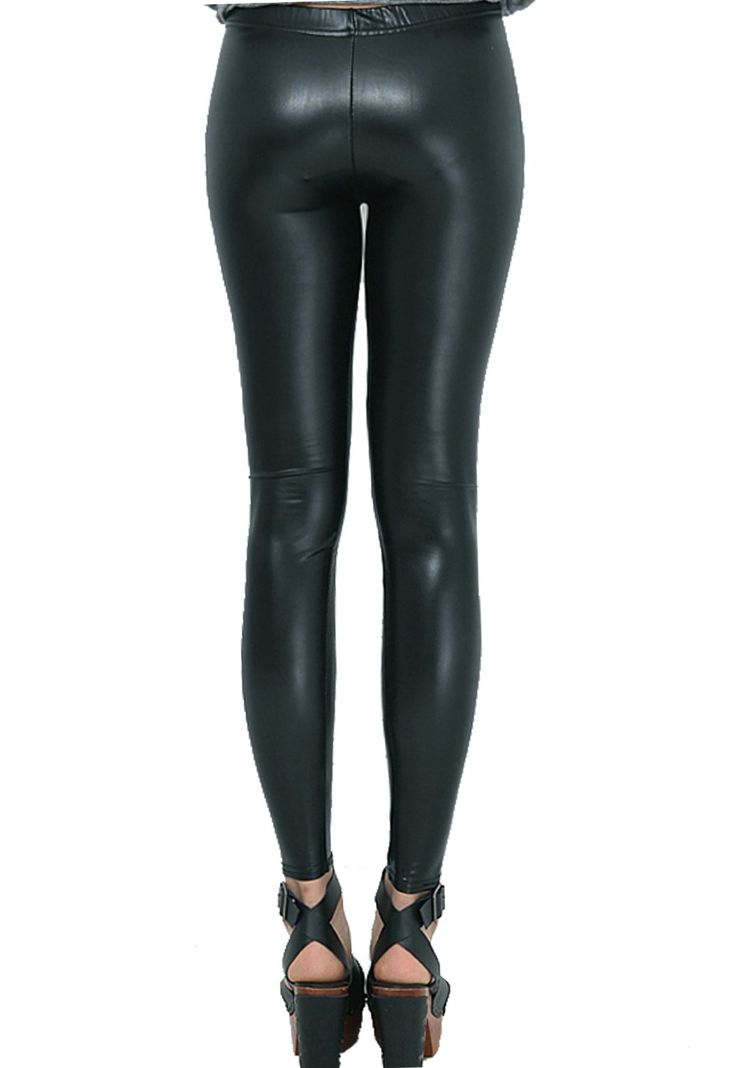 Shiny leggings as pants is a great fashionable look for 2013.
