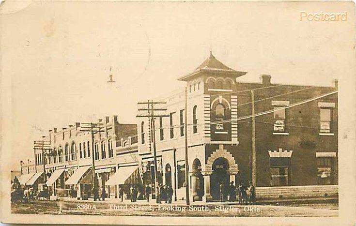 OK, Stigler, Oklahoma, 1st National Bank, M.L. Zercher No. 8360A, RPPC
