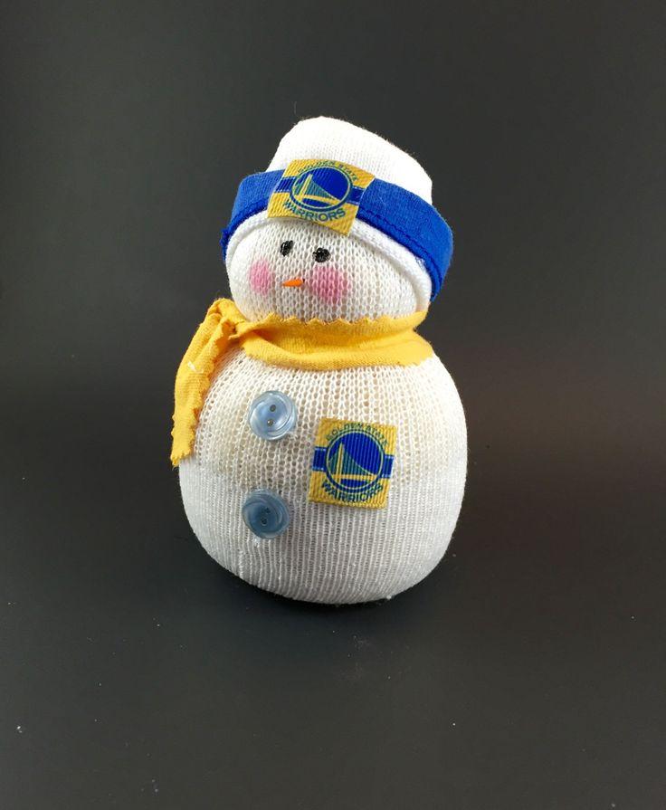 Golden State Warriors, Golden State Warriors accessory, Golden State Warriors collectible, Golden State Warriors gift, Warriors snowman by Andreaswishcraft on Etsy