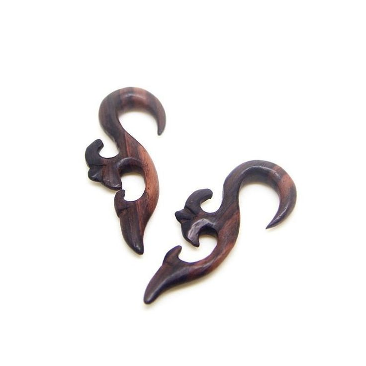 2 Gauge ear hanger w/ abstract fairy carving.  #AYUtribal #ayujewelry #2gauge #2g #2 #2gauges #woodgauges #eargauges #earplugs #woodenearrings #earstretching #plugs #gauges #taper #piercings #tattoo #girlswithink #girlswithlocks #girlswithtattoos #organic #hippie #hipster #urban #tribal #jewelry #fashionjewelry #ayujewelry #followme #followforfollow
