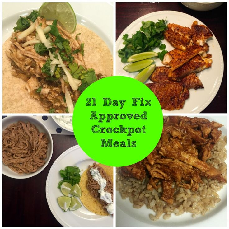 Crockpot Meals for the 21 Day Fix. Make clean eating easy!