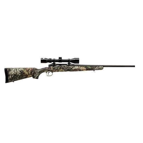 Savage Axis XP Bolt Action Rifle .243 Winchester 22 Barrel 4 Rounds Matte Camo Synthetic Stock Matte Black Barrel 3-9x40mm Riflescope Included