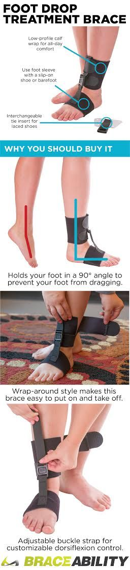 Use this brace for foot drop treatment! The soft AFO brace for drop foot also works well for those with a dorsiflexion injury, stroke patients, or people dealing with leg muscle disorders by holding your foot in a 90-degree angle to prevent your foot from dragging as you walk. Convenient features like its wrap-around design and adjustable buckle strap make this a top seller!