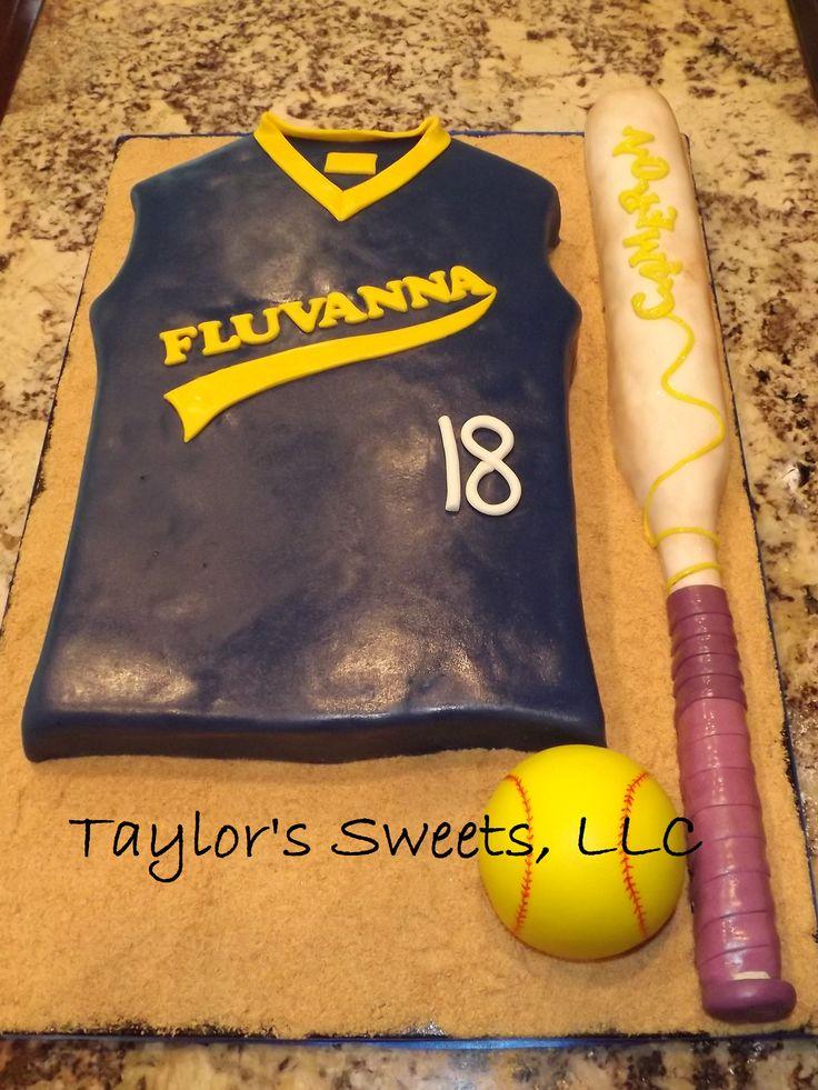 Softball jersey cake.....Haleys 11th bday cake?