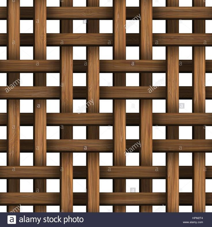 Download this stock image: Wicker wood pattern seamless tille bacground decorations. - HPM2T4 from Alamy's library of millions of high resolution stock photos, illustrations and vectors. #pattern