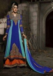 Double Layered Anarkali Pattern Designer Salwar Suit