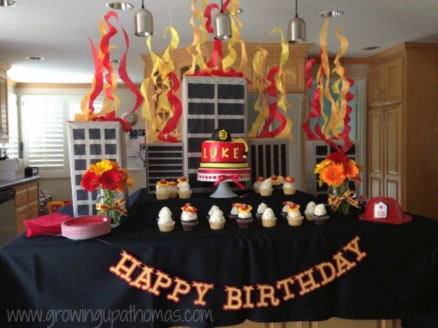 Firefighter Birthday Party Decor - #kidsparty #partydecor