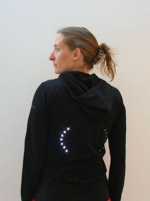 leah buechley - LilyPad Arduino - build - turn signal jacket