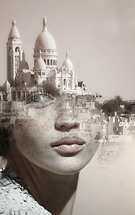 Double exposure portraits by Spanish-based artist Antonio Mora (a.k.a. Mylovt) blend human and nature worlds into surreal hybrid artworks.