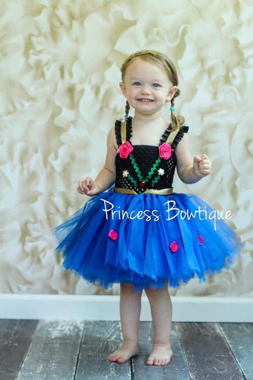 Tutu Dress 2 piece Disney  Frozen Anna by PrincessBowtiquecom, $55.00