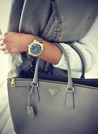 grey-puse,watch,scarf