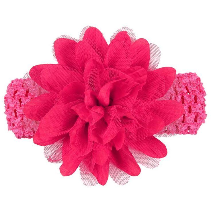Новый Дизайн Маленьких Девочек Большой Цветок Эластичного Кружева Ободки Для Волос Аксессуары 160405 Перевозка Груза Падения