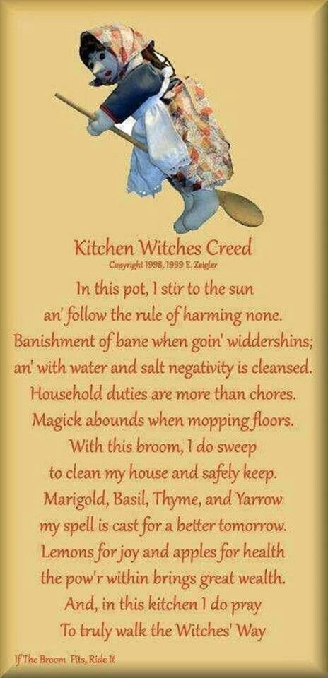 Kitchen witch Creed
