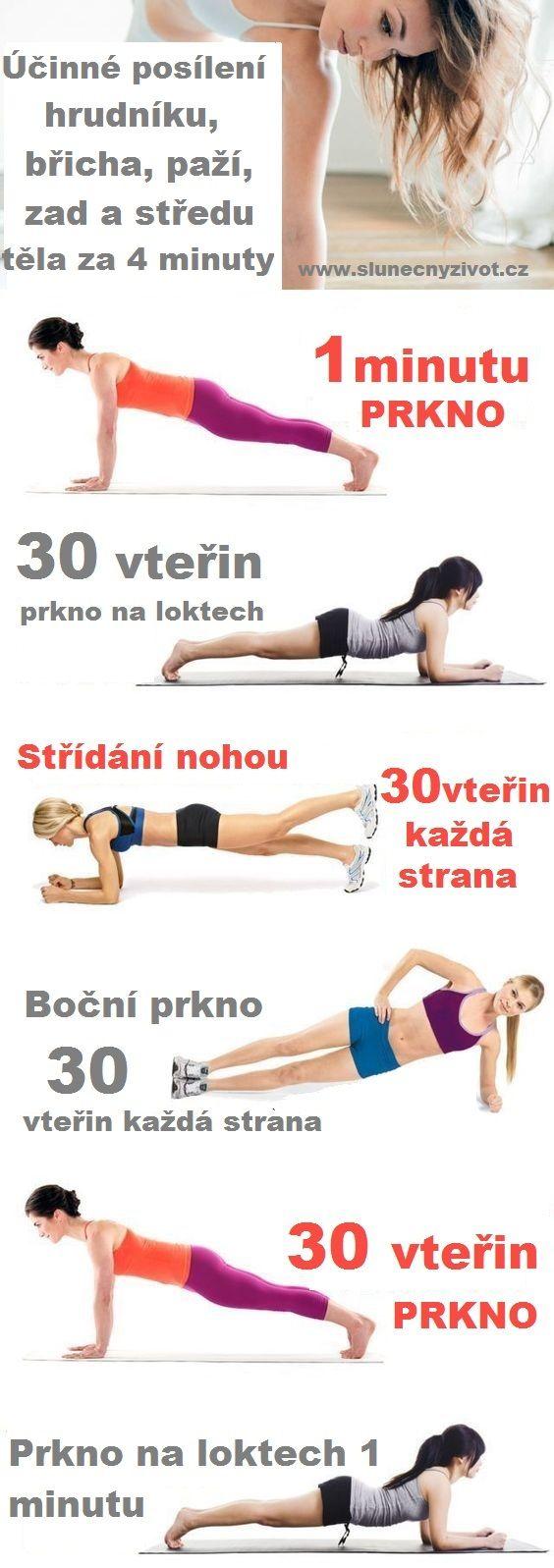 Trápí vás povislé bříško, prapory místo tricepsů, povolené prsní svaly, ochablé zádové svaly a máte pocit, že byste museli cvičit aspoň 30 minut každý den, aby se tohle vše viditelně zpevnilo? Nevíte vlastně jak efektivně cvičit? Myslíte si, že se dá břicho zpevnit pouze neoblíbenými sklapovačkami,které nemůžete dělat kvůli zádům, pevné tricepsy u žen jsou…